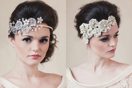 Phụ kiện phong cách hoa giấy cho cô dâu