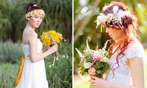 Chọn hoa cưới kết hợp cùng váy bohemian