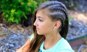 Thêm phong cách với tóc tết đôi nửa đầu