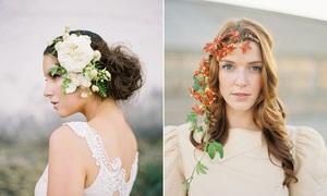 10 mẫu hoa cài tóc mới cho cô dâu mùa thu