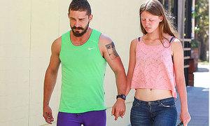 Shia LaBeouf mặc quần bó phản cảm hẹn hò với bạn gái