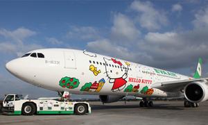 Máy bay Hello Kitty lần đầu bay thẳng tới Paris