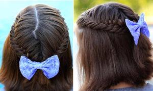 Tết mái xương cá trẻ trung cho tóc ngang vai