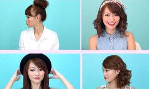 5 cách tạo kiểu trẻ trung cho tóc ngang vai