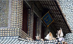Lâu đài làm từ vỏ sò