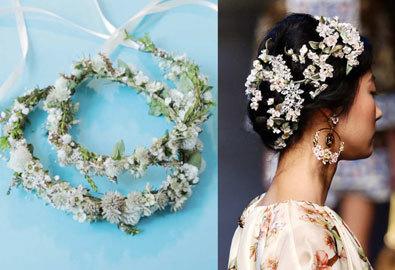 Tự làm băng đô hoa nhí Dolce Gabbana lãng mạn