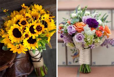 Hoa cưới màu cam và vàng rực rỡ như nắng
