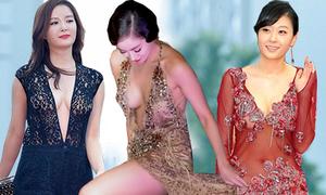 Váy áo hở hang tai tiếng của sao Hàn