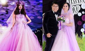 Váy cưới của vợ Gia Bảo bị tố 'đạo kiểu'