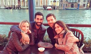 Vợ chồng Alonso và Arbeloa rủ nhau du hý Venice