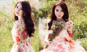 Hoa hậu Thu Thảo bay bổng và lãng mạn với váy hoa