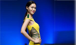 Thuỳ Dung khoe eo sexy với váy cut out