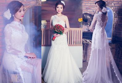 Váy cưới đuôi cá 5-8 triệu đồng cho cô dâu Việt