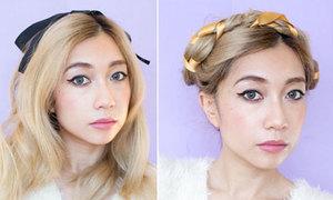 3 kiểu tóc điệu đà với ruy băng