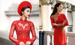 Kim Dung duyên dáng với áo dài xuân 2015