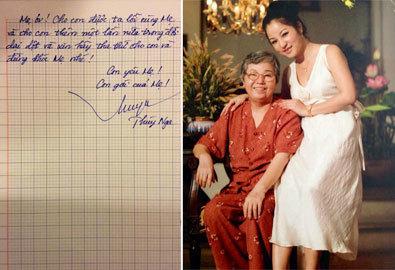 Bức thư tay cảm động gửi mẹ của danh hài Thúy Nga