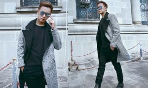 Ngô Kiến Huy cá tính với áo khoác mùa đông