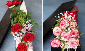 Hoa hồng trong hộp lãng mạn mùa Valentine