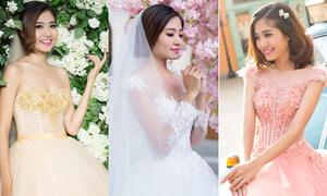 Ninh Hoàng Ngân điệu đà với váy cưới xòe
