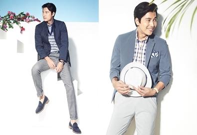Quý ông Jung Woo Sung trẻ trung với đồ xuân