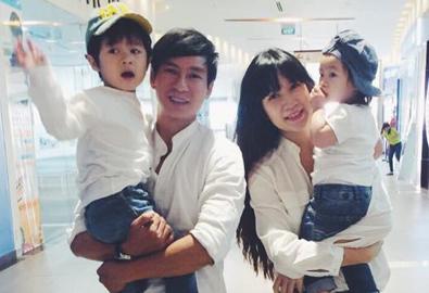 Vợ chồng Lý Hải mệt lử vì chăm 3 con