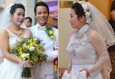 Thanh Thanh Hiền tự tin mặc váy cưới trắng dù vóc dáng tròn trịa