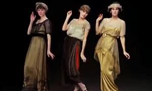 Video thú vị về thời trang xưa của phụ nữ Pháp