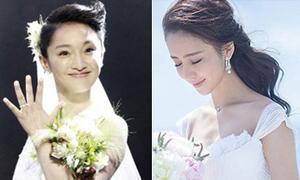 3 kiểu tóc ngày cưới yêu thích của sao Hoa ngữ