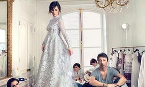 Cô dâu Sophie Hunter diện váy cưới che bụng bầu