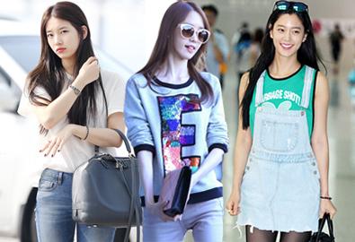 Cách mix áo thun thoải mái mà style của sao Hàn