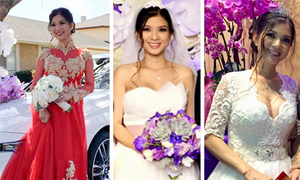 Gu thời trang cưới điệu đà của Phạm Thanh Thảo
