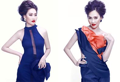 Á hậu Kim Duyên gợi cảm với môi đỏ cherry