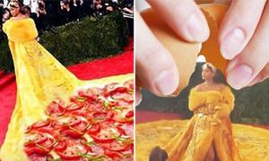 Ảnh chế hài hước về chiếc váy của Rihanna tại Met Gala