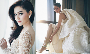 Mỹ nhân Thái Lan chi 6,5 tỷ đồng cho trang phục cưới