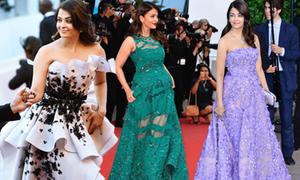 10 bộ đầm quý phái của Hoa hậu Aishwarya Rai
