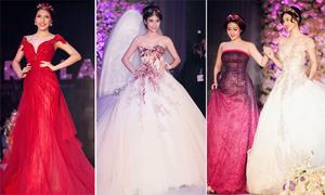 Váy cưới công chúa và áo dài cầu kỳ của NTK Anh Thư