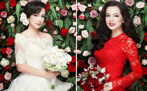 Ngọc Thúy xinh đẹp rực rỡ khi làm cô dâu