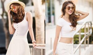 Kim Dung gợi ý mặc sắc trắng sexy