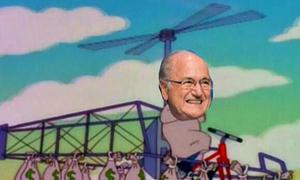 Chủ tịch Blatter bị chế ảnh châm biếm sau khi từ chức