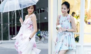 Tôn nét nữ tính với váy áo in hoa