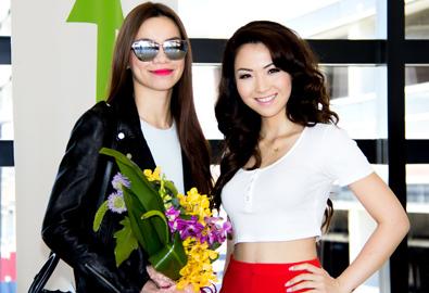 Jennifer Chung ra sân bay đón Hồ Ngọc Hà