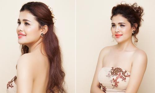 Á hậu Sơn Thị Du Ra gợi ý kiểu tóc cô dâu kiêu sa