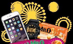 Thưởng thức đậu phộng Mr.O nhận quà giá trị