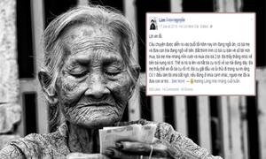 Lời xin lỗi cụ bà bán vé số và cách dạy con của mẹ Việt