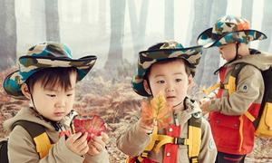 Dàn nhóc sinh ba của Song Il Gook ngày càng kháu khỉnh