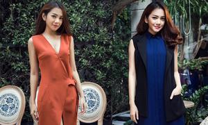 Châu Diệu Minh thanh lịch với thời trang thu