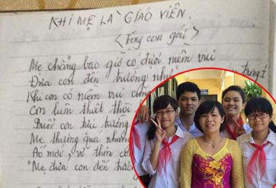 Bài thơ của người mẹ giáo viên gây xúc động dịp khai giảng
