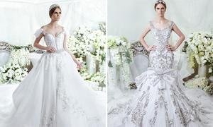 Váy cưới đính pha lê lộng lẫy style công chúa