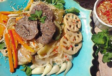 Gỏi bắp bò kim chi