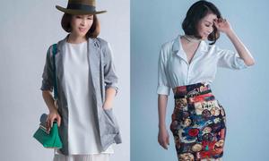 Thanh Mai mix trang phục tôn nét thanh lịch